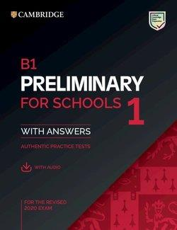 PET PRELIMINARY FOR SCHOOLS 1 PAST PAPERS SB+KEY+AUDIO | 9781108652292 | VVAA