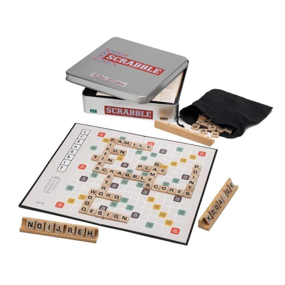 SCRABBLE RETRO TIN | 5060058550587 | LEISURE TREND