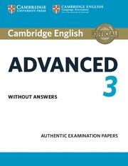 CAE CAMBRIDGE CAE PRACTICE TESTS 3 SB NO KEY | 9781108431200