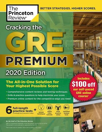 GRE CRACKING THE, PREMIUM EDITION WITH 6 PRACTICE T | 9780525568049 | PRINCETON REVIEW