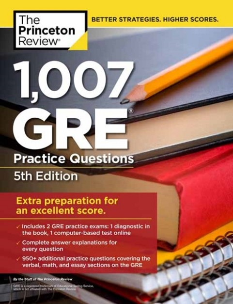 1007 GRE PRACTICE QUEST 5TH ED | 9780525567592 | PRINCETON REVIEW
