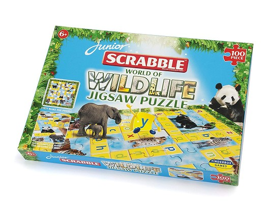 SCRABBLE JUNIOR WILDLIFE PUZZLE | 5060058550532 | LEISURE TREND