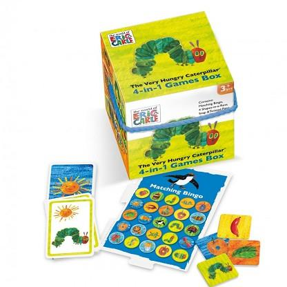 VERY HUNGRY CATERPILLAR 4 IN 1 GAMES CUBE | 5012822061652 | PAUL LAMOND GAMES