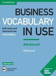 BUSINESS VOCABULARY IN USE 3ED ADV KEY/EBOOK | 9781316628225 | BILL MASCULL